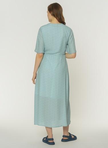 NGSTYLE Kadın Düğmeli Midi Elbise NGKSS21EL0066 Renkli